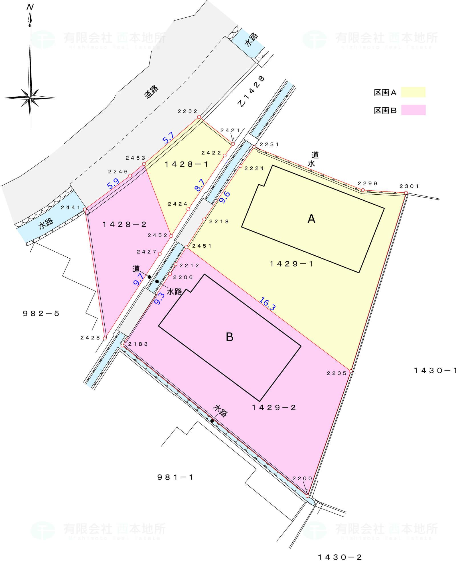 2区画配置図